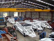 Iron ore belly dumper trailers